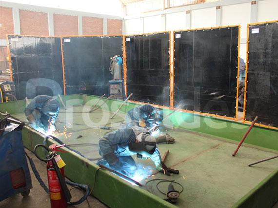 Biombos y cortinas para soldadura lima peru